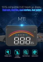 Car HUD Display, iKiKin HUD Head Up Display GPS OBD Dual USB Interface with Alarm Systems & Security Digital Windshield Projector for All Vehicles