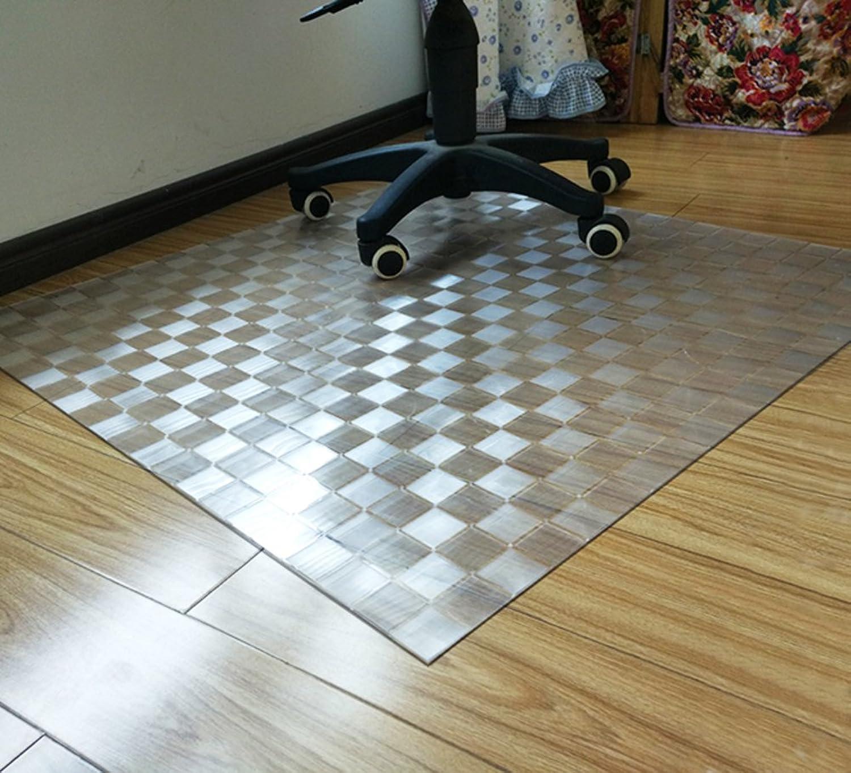 Non-Slip Transparent mat Plastic Flooring mat Wood Floor Predector Office Computer Chair mat PVC Round Ground mat-C 80x100cm(31x39inch)
