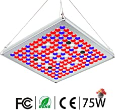 TOPLANET Plantas Led Grow Light Reflector 75w Lampara con IR Rojo Azul Luz para Interior/Invernadero/Grow Box Vegetal Crecimiento