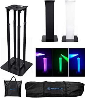 Rockville Totem Moving Head Light Stand+Black+White Scrims+Carry Bags RTP32B