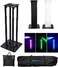 Rockville Totem Moving Head Light Stand+Black+White Scrims+Carry Bags, (RTP32B)