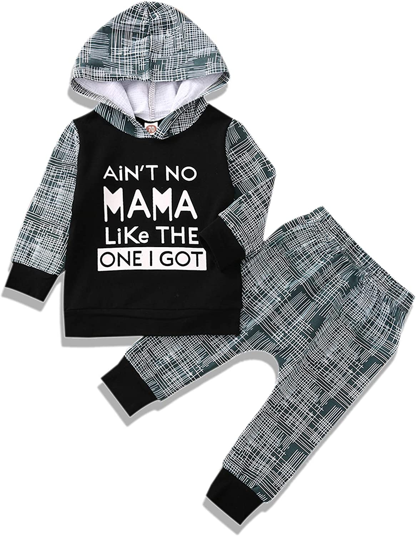Baby Boy Outfits, Infant Boy Clothes Long Sleeve Bodysuit Romper+Pants+Hat Outfit Set