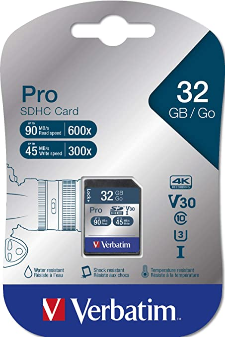 Verbatim Pro U3 Sdhc Karte 16 Gb Für Computer Zubehör