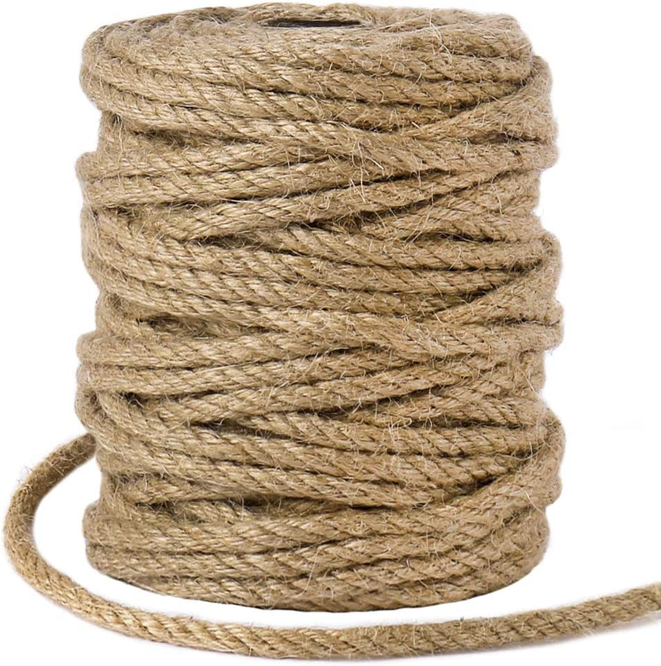 5mm Jute Max 78% OFF Rope Limited price 98 Feet Natural Macrame Twisted Gar Cord for
