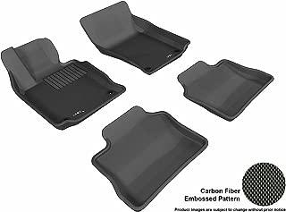 3D MAXpider Complete Set Custom Fit All-Weather Floor Mat for Select Porsche Panamera Models - Kagu Rubber (Black)