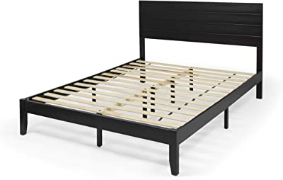 Christopher Knight Home Apollo Queen Size Bed with Headboard, Natural and Black Finish