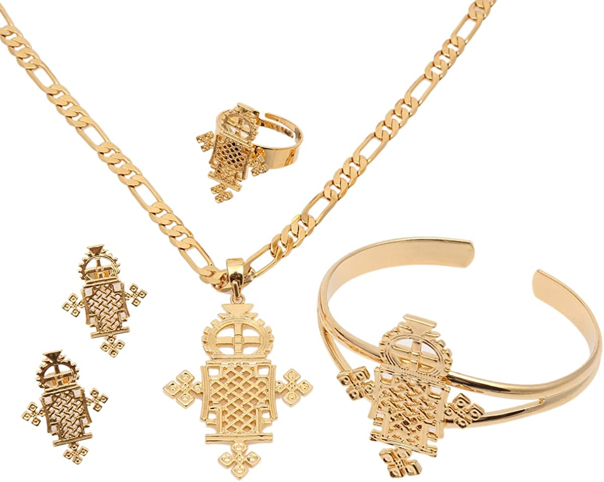 2016 Ethiopian Jewelry Sets 24k Gold Plated Sets for African