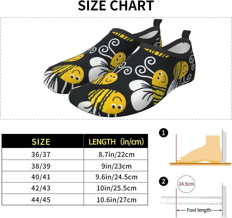 O-X_X-O Bumblebee Aqua Socks Water Shoes for Women & Men for Beach Yoga Pool Barefoot River Swim Sneaker Quick-Dry Vacation Essentials