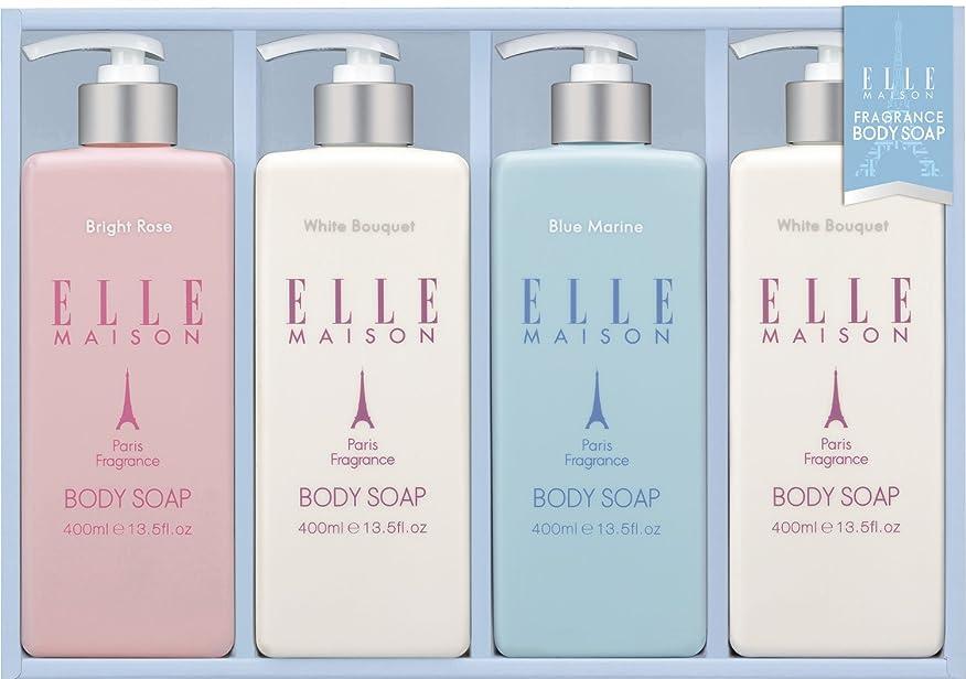 ずらす主張するお風呂を持っている熊野油脂 ギフト ELLE MAISONボディソープギフト EBS-20