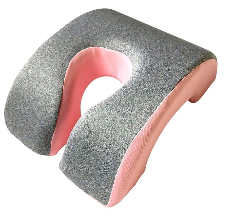 代表する証明書消化ActiveIsland 昼寝 枕 オフィス うつ伏せ デスク 低反発 仮眠 うたた寝 a295 (ピンク)