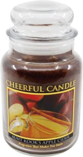 A Cheerful Giver Aunt Kook's Apple Cider Jar Candle, 24-Ounce