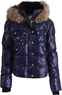 Juicy Couture Bonded Lace Blue/Black Puffer Coat, Large
