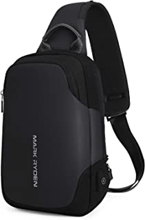 Mark Ryden Anti-theft Sling Chest Bag Handbag for Men Waterproof Crossbody Travel Shoulder Bag Fit for 9.7