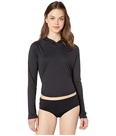 Hurley Hybrid One and Only Long Sleeve Surf Top (Black) Women