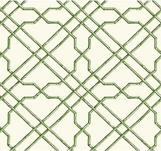 green trellis wallpaper