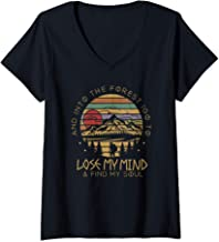 Womens Into The Forest I Go To Lose My Mind Find My Soul Shirt V-Neck T-Shirt