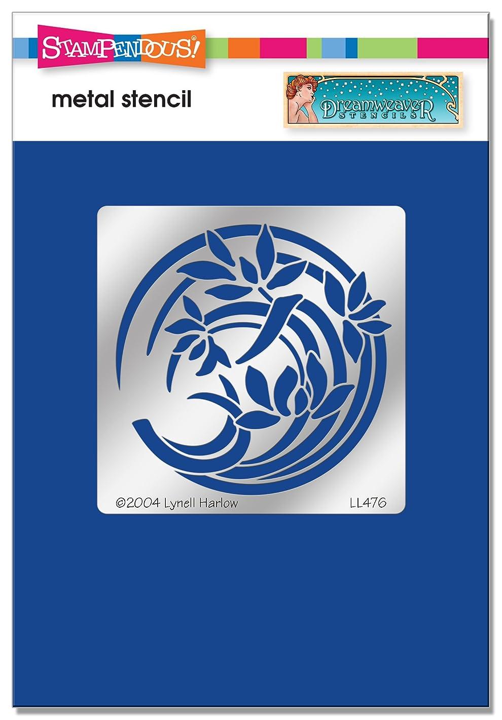 Stampendous DWLL476 Dreamweaver Orchid Crest Metal Stencil