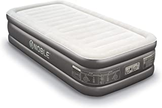 Noble Twin XL Size Luxury Double HIGH Raised Air Mattress Top Inflatable Upgraded Airbed with Built-in Pump Elevated Raised Air Mattress Quilt Top & 1-Year Warranty