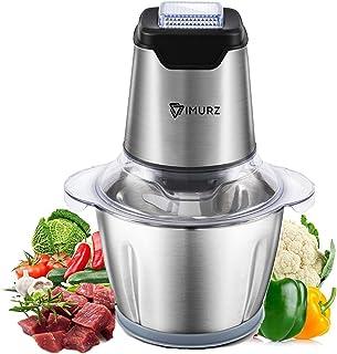 Hachoir Électrique 600W ,Mini Broyeur d'aliments électrique avec Bol en Acier INOX 1.2L,4 Lames en inox,Robot culinaire él...