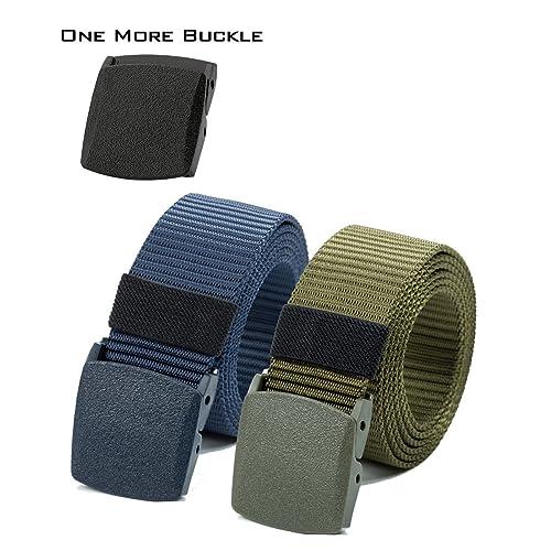 Nylon Canvas Belt Plastic Buckle Belt Hiking Belt Military Tactical Waist  Belt 2 Pack by ViViKiNG 4b3f3c94e02