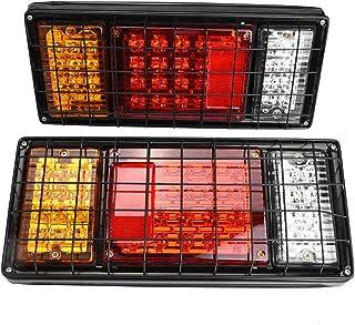 Ebtools- Lot de 2 feux arrières LED pour remorque, camion, bateau 12V