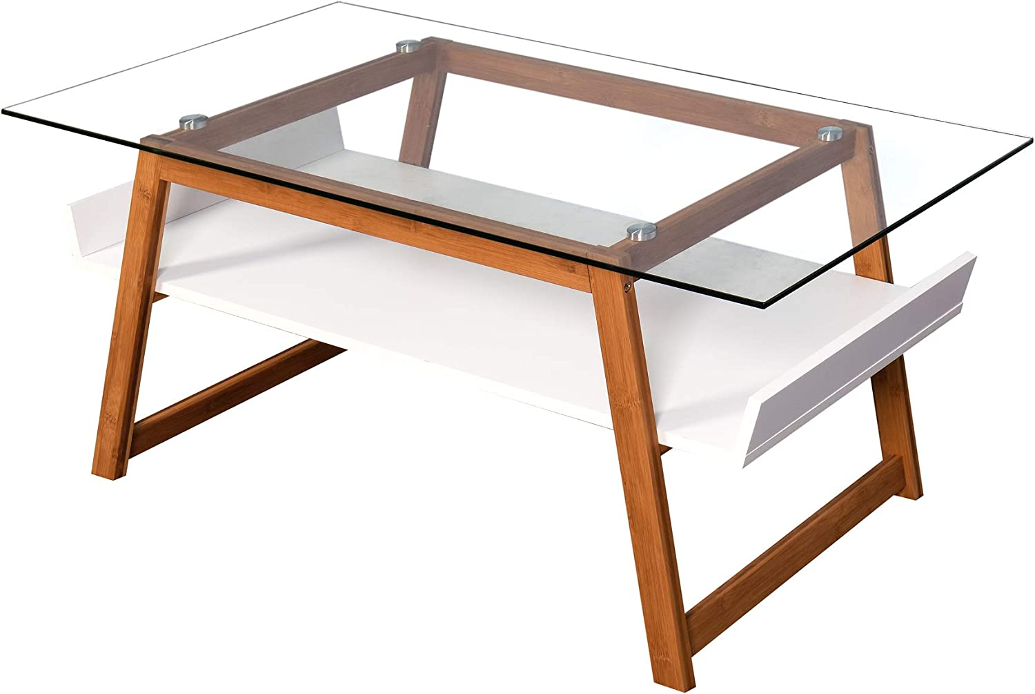 Cpallie Rectangle Glass Coffee Table Charlotte OFFicial site Mall Furniture: Modern Storage S