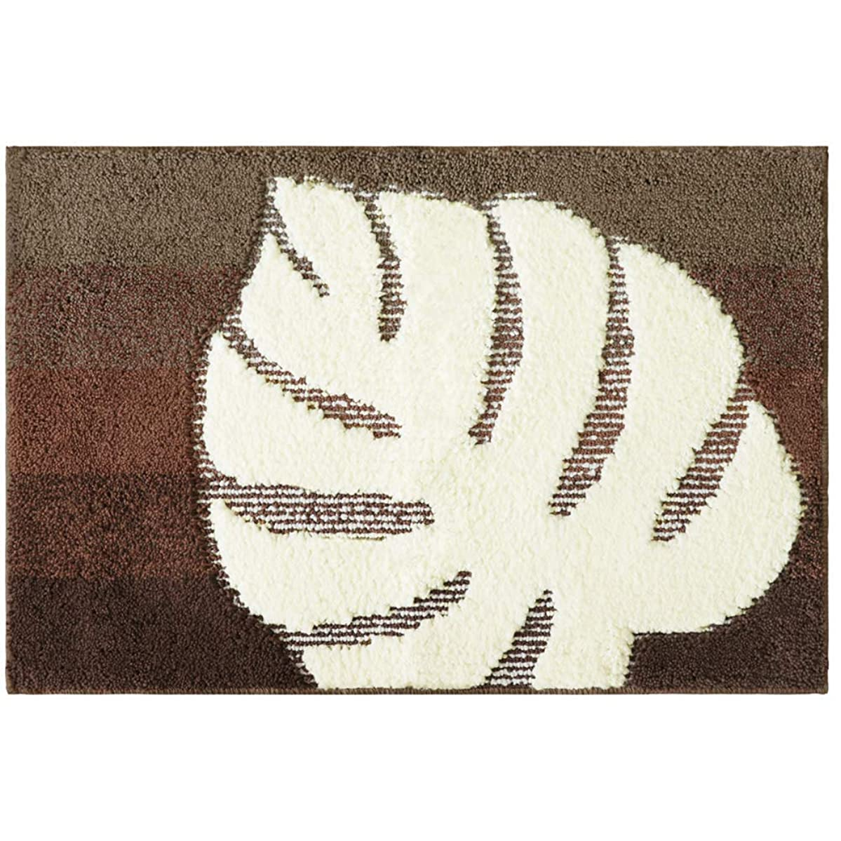 具体的に円周シロクマオカトー(Okato) 浴室足ふきマット ブラウン 45×75cm