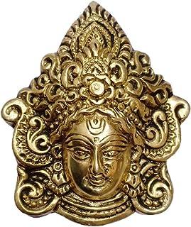 Collectible India Goddess Durga Metal Wall Hanging - Brass Durga Kali Ma Wall Art Sculpture - Diwali Decoration Items for ...