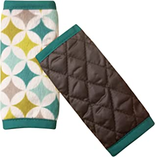 Nuby Car Seat Reversible Strap Covers 2 Pack, Green
