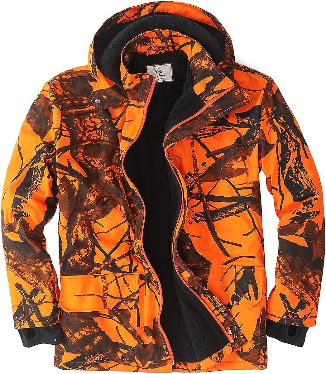 SUKNNO Outdoor Blaze Indianapolis Mall Orange Hunting Men for Fees free!! Camo Jacket