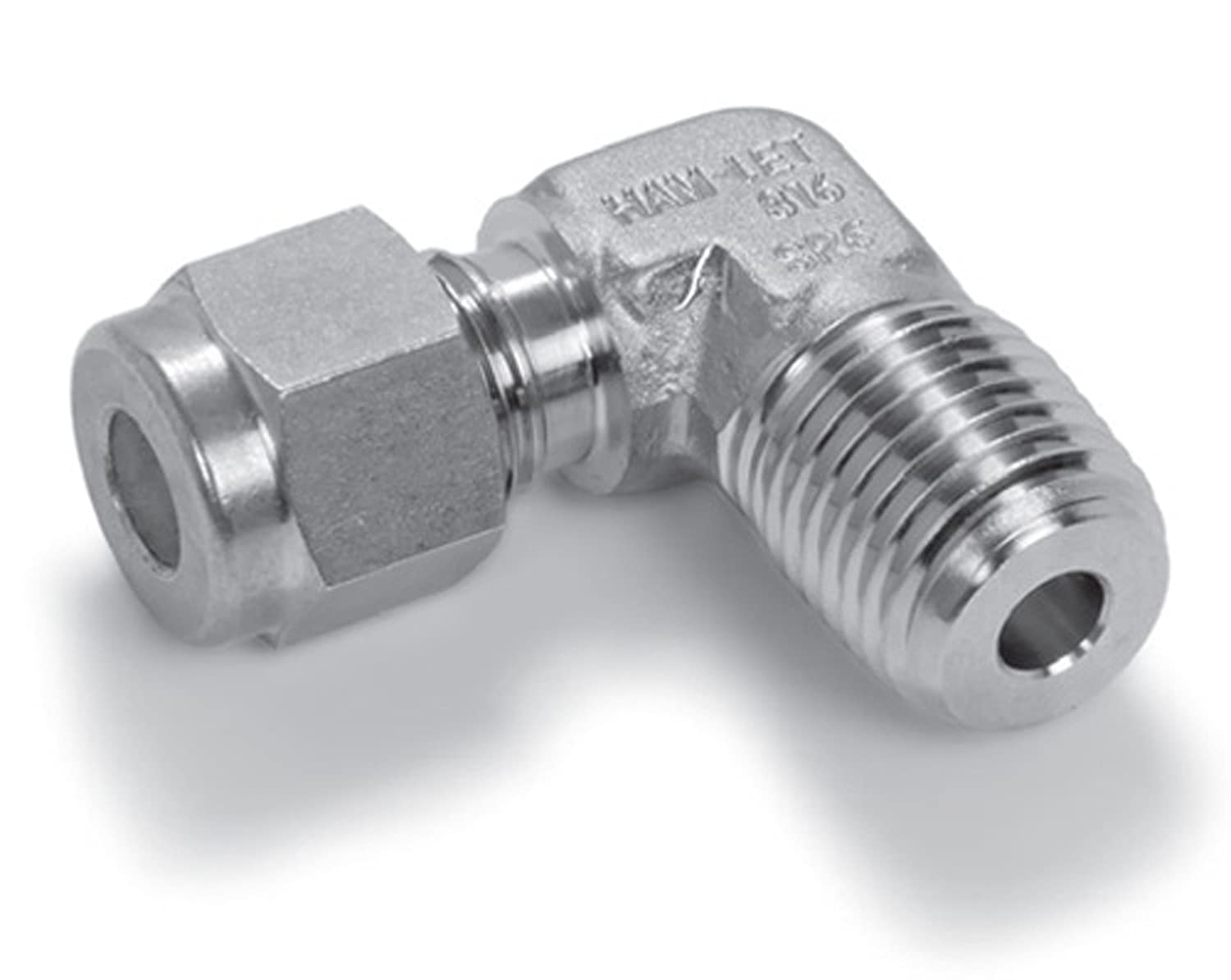 Ham-Let Stainless Steel 316 Let-Lok Compression Fitting 1 NPT Male x Tube OD 90 Degree Elbow