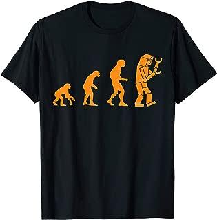 Sheldon Nerdy Robot Evolution Computer Robotics Geek Gift T-Shirt