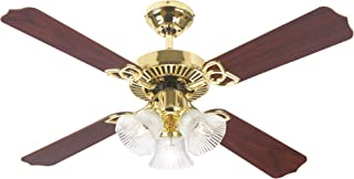Westinghouse Lighting 7812165 Crusader 42 Inch Ceiling Fan, Polished Brass Finish