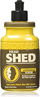 HeadBlade HeadShed Men's Exfoliating Scrub - 5 oz - Face Wash & Cleanser - Removes Dead Skin and Preps for Great Shave