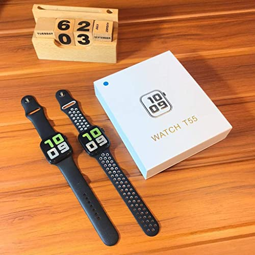 Smart Watch Bluetooth Phone Watches T55 Series 5 Bluetooth Call Smart Watches ECG Heart Rate Monitor Fitness Tracker Watch For Man Boys And Girls Android Ios Smartwatch COLOUR MAY VARY