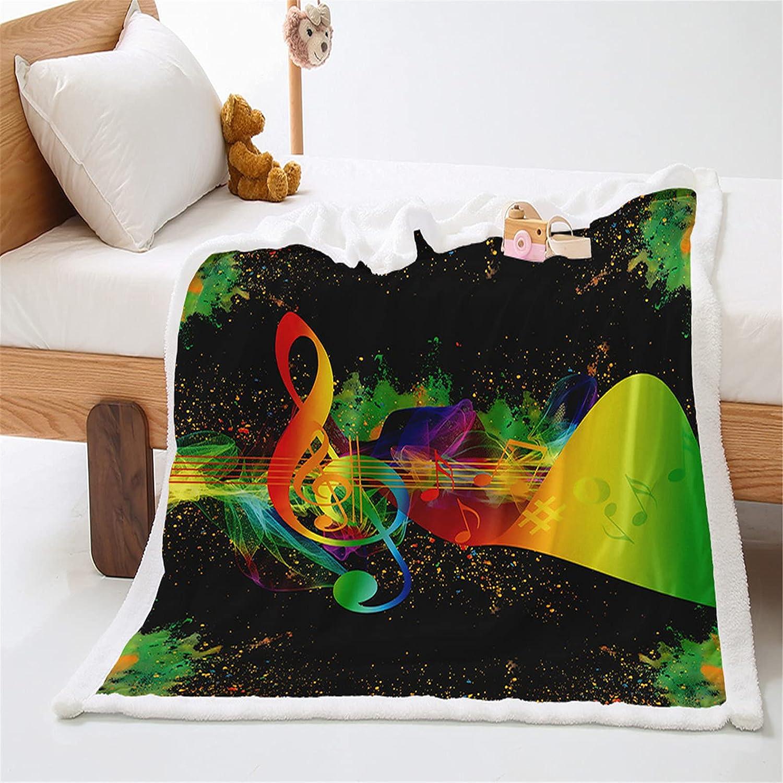 KOOYR 3D Rainbow Under blast sales Pattern Polyest favorite Colorful Music Blanket