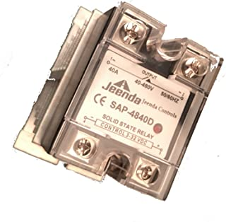 Holdwell Solid State Relay SSR DC-AC 40A 3-32VDC/40-480VAC with Heatsink for Crydom D4840D