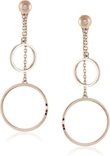 TOMMY HILFIGER WOMEN'S IONIC PLATED CARNATION GOLD STEEL EARRINGS -2780146