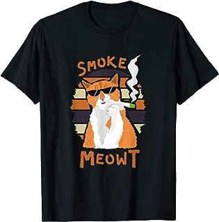 Joint Smoking Cat 420 Shirt Kitten Weed Pot Cannabis Gift