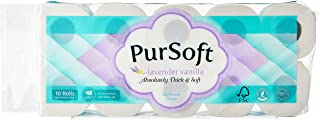 PurSoft 4 PLY Bathroom Rolls, Lavender Vanilla Scented, 180 ct (Pack of 10)