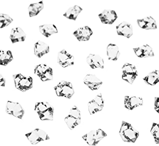 Super Z Outlet Acrylic Color Ice Rock Crystals Treasure Gems for Table Scatters, Vase Fillers, Event, Wedding, Arts & Crafts, Birthday Decoration Favor (190 Pieces) (Clear)