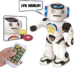 LEXiBOOK Powerman-Educational Robot for Learning Play, White (Rob50ES) Spanish Version