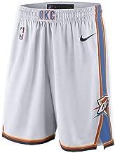 Nike Oklahoma City Thunder NBA Youth 8-20 Blue Dri-Fit Performance White Home Association Edition Swingman Shorts