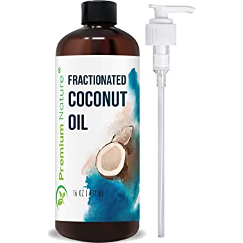 Fractionated Coconut Oil Massage Oil - Cold Pressed Pure MCT Oil for Essential Oils Mixing Dry Skin Moisturizer Natural Carrier Baby Oil for Face Hair & Body Therapeutic Aromatherapy Raw 16 oz