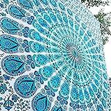 Montreal Tappassier Craft-Ozone Tapiz Indio de algodón para decoración de Pared, tapices Hippies Bohemios, Mandala, Tapiz para Colgar en la Pared