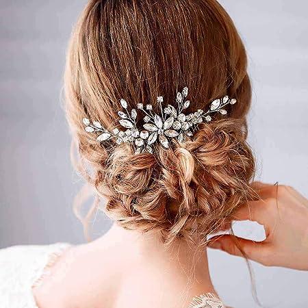 Amour Silver bridal hair comb Wedding hair comb silver Silver bridal accessories Bridal headpiece