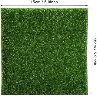 Goonpetchkrai.rapat7498 Garden Edging - 10Pcs 15x15cm Artificial Grass Garden Indoor Outdoor Artificial - Garden Edging Decoration