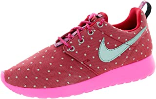 Nike Rosherun Print Dark Red/Metallic Silver-Pink Power Girls