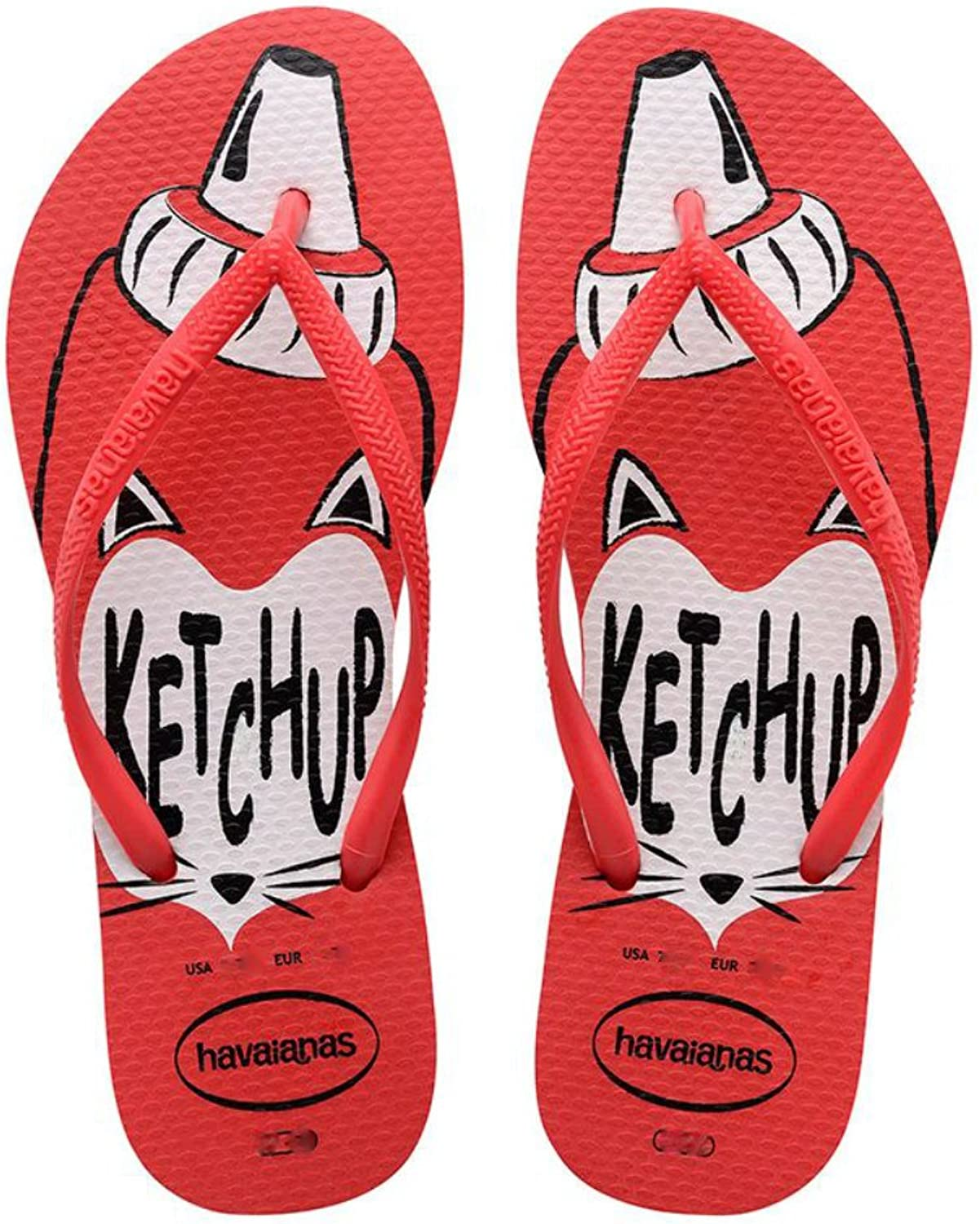 Havaianas Ketchup Theme Red Sandals 11 W