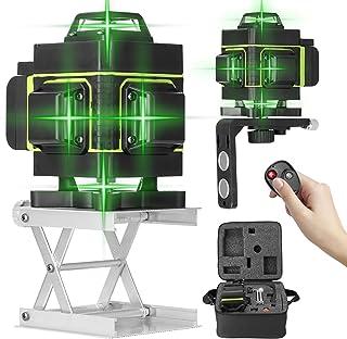 Niveau Laser 360/° Vert 4D 16 Lignes avec Batterie Support de Tr/épied de Barre dextension dalliage 1,5 m 3 Hauteurs R/églables et Support Rotatifet Sac KKmoon/® Laser Chantier 3/° Auto-nivelant